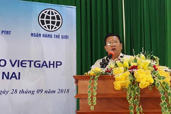 Ông Huỳnh Thành Vinh- Giám đốc Sở NN&PTNT tỉnh Đồng Nai, phát biểu tại Hội thảo.